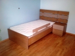 Κρεβάτι Φράχτης από δρυς ξύλο